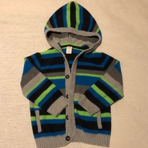 Gymboree hooded button down sweater